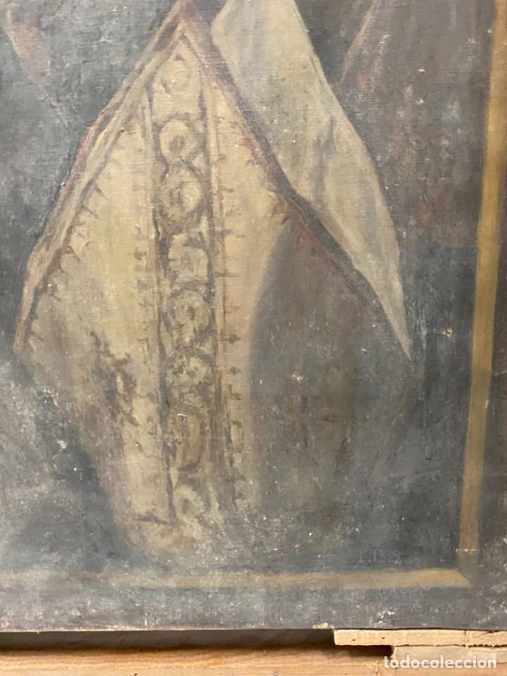Arte: Óleo sobre lienzo de Ignacio Zuloaga, inédito, firmado. San Bernardino de Siena del Greco. 102x72. - Foto 4 - 263032795
