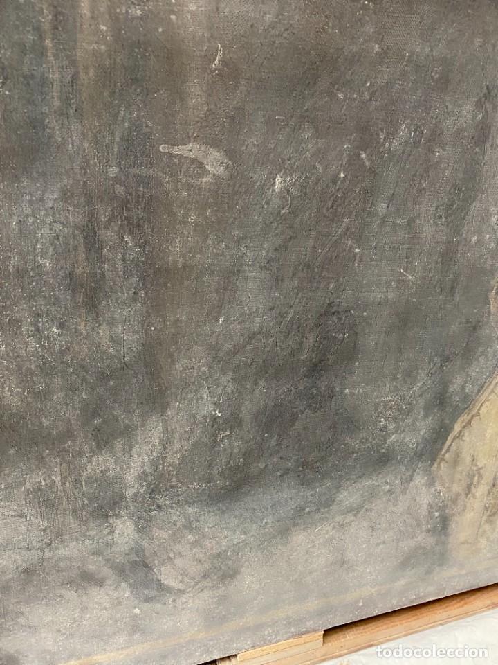 Arte: Óleo sobre lienzo de Ignacio Zuloaga, inédito, firmado. San Bernardino de Siena del Greco. 102x72. - Foto 7 - 263032795