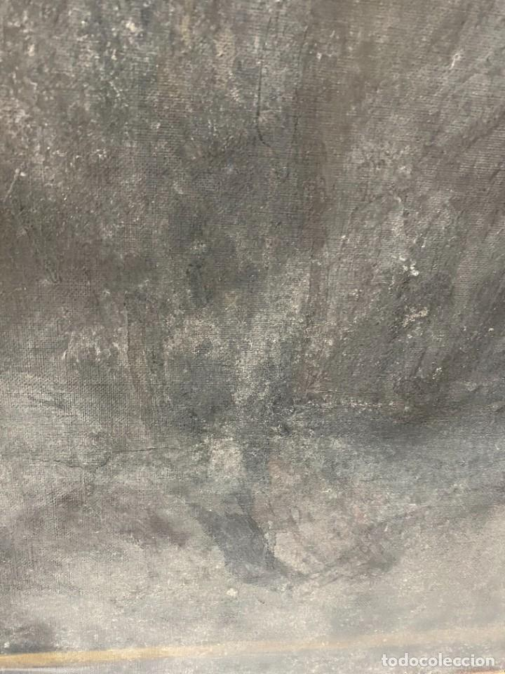 Arte: Óleo sobre lienzo de Ignacio Zuloaga, inédito, firmado. San Bernardino de Siena del Greco. 102x72. - Foto 8 - 263032795