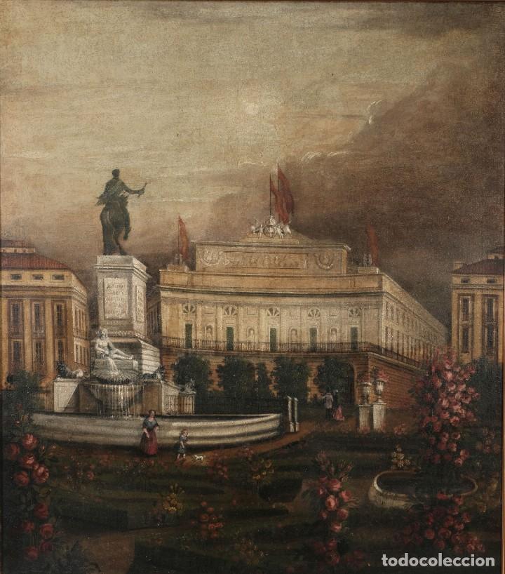 ÓLEO SOBRE LIENZO ANTIGUO TEATRO DE LA OPERA DE MADRID FIRMADO JOSÉ MASSÓ HACIA 1900 (Arte - Pintura - Pintura al Óleo Contemporánea )