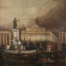 Arte: ÓLEO SOBRE LIENZO ANTIGUO TEATRO DE LA OPERA DE MADRID FIRMADO JOSÉ MASSÓ HACIA 1900. Lote 263042355