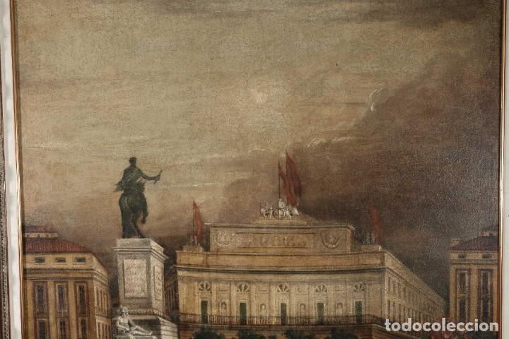 Arte: Óleo sobre lienzo Antiguo Teatro de la Opera de Madrid firmado José Massó hacia 1900 - Foto 3 - 263042355