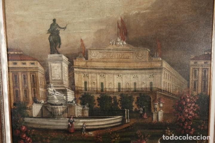 Arte: Óleo sobre lienzo Antiguo Teatro de la Opera de Madrid firmado José Massó hacia 1900 - Foto 4 - 263042355