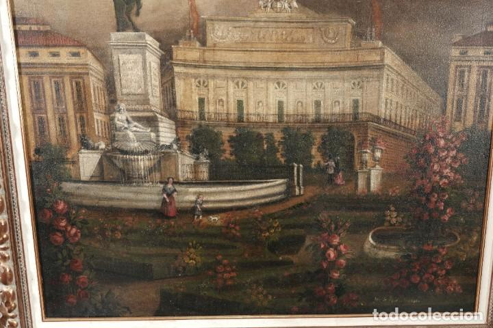 Arte: Óleo sobre lienzo Antiguo Teatro de la Opera de Madrid firmado José Massó hacia 1900 - Foto 5 - 263042355