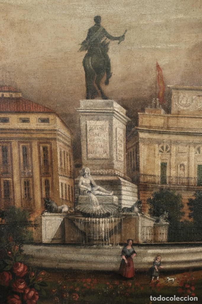 Arte: Óleo sobre lienzo Antiguo Teatro de la Opera de Madrid firmado José Massó hacia 1900 - Foto 6 - 263042355
