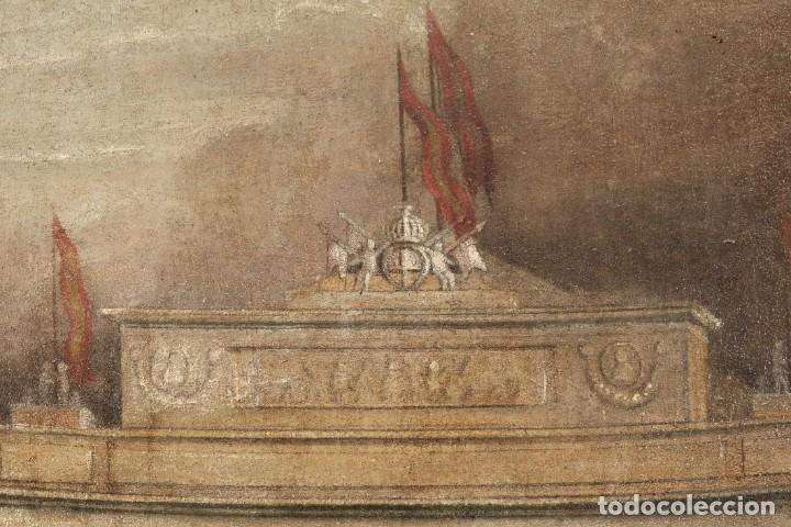 Arte: Óleo sobre lienzo Antiguo Teatro de la Opera de Madrid firmado José Massó hacia 1900 - Foto 8 - 263042355