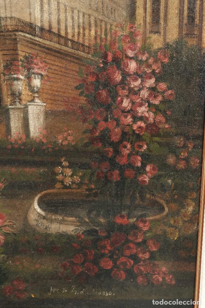 Arte: Óleo sobre lienzo Antiguo Teatro de la Opera de Madrid firmado José Massó hacia 1900 - Foto 9 - 263042355