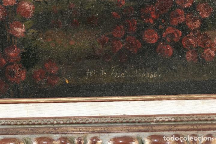 Arte: Óleo sobre lienzo Antiguo Teatro de la Opera de Madrid firmado José Massó hacia 1900 - Foto 10 - 263042355