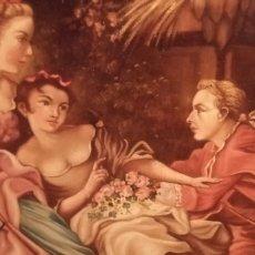 Arte: ANTIGUA PINTURA A ÓLEO SOBRE LIENZO. SIGLO XVIII O XIX. FIRMADA V. MUÑOZ. Lote 263098740
