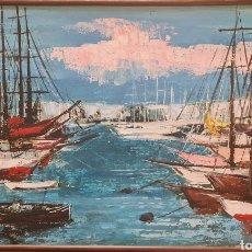 Arte: FLORIT, PRECIOSA PINTURA ORIGINAL MARINA, FIRMADA.. Lote 263245915