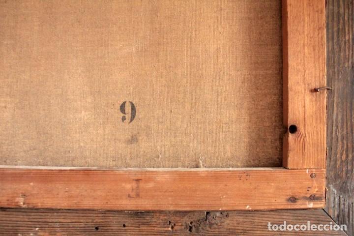 Arte: Escuela Orientalista del siglo XIX. Perfil de mujer. Oleo sobre lienzo. Gran calidad. Firmado. - Foto 11 - 263462105