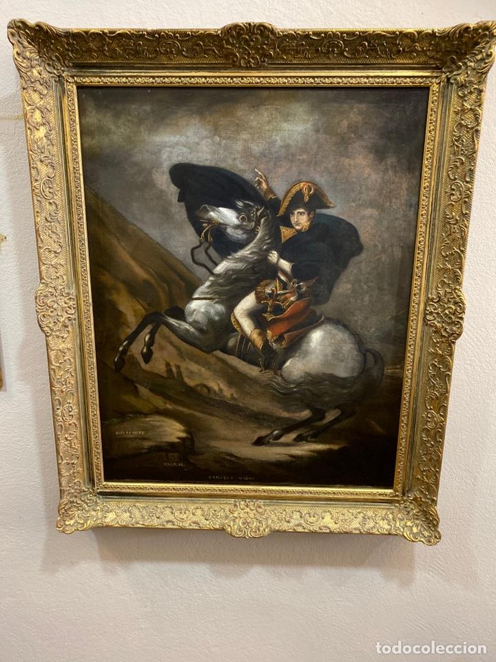 Arte: Cuadro original oleo sobre tela. Firmado. De Napoleon Bona Parte - Foto 2 - 263523280