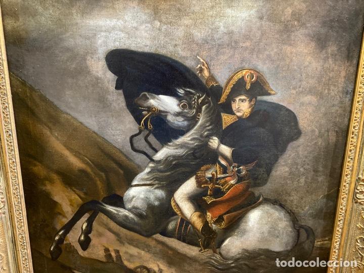 Arte: Cuadro original oleo sobre tela. Firmado. De Napoleon Bona Parte - Foto 6 - 263523280
