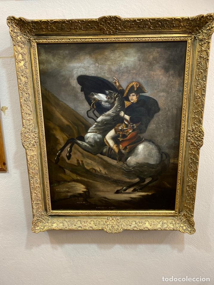 CUADRO ORIGINAL OLEO SOBRE TELA. FIRMADO. DE NAPOLEON BONA PARTE (Arte - Pintura - Pintura al Óleo Antigua siglo XVIII)