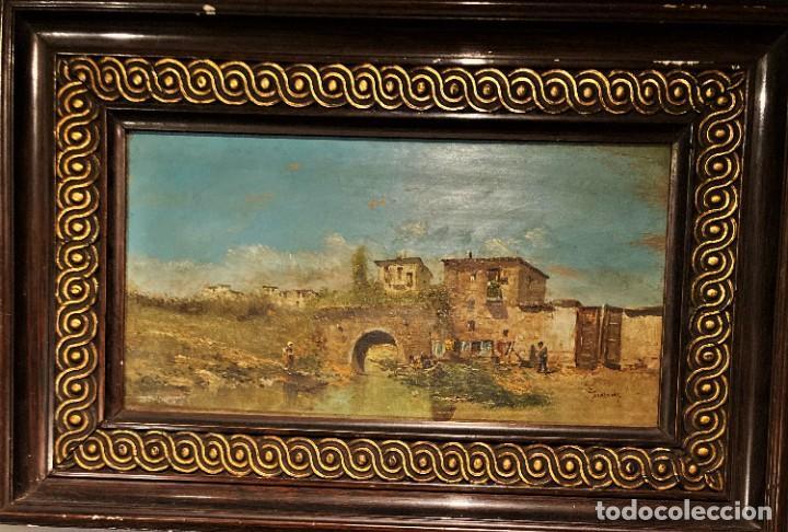 Arte: Paisaje, escuela española, firmado Fernández - Foto 25 - 208036892