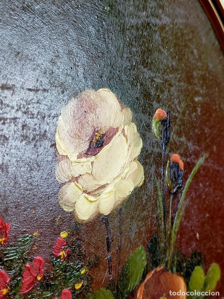 Arte: Bodegon de flores oleo firmado 42 x 34 - Foto 3 - 263642170