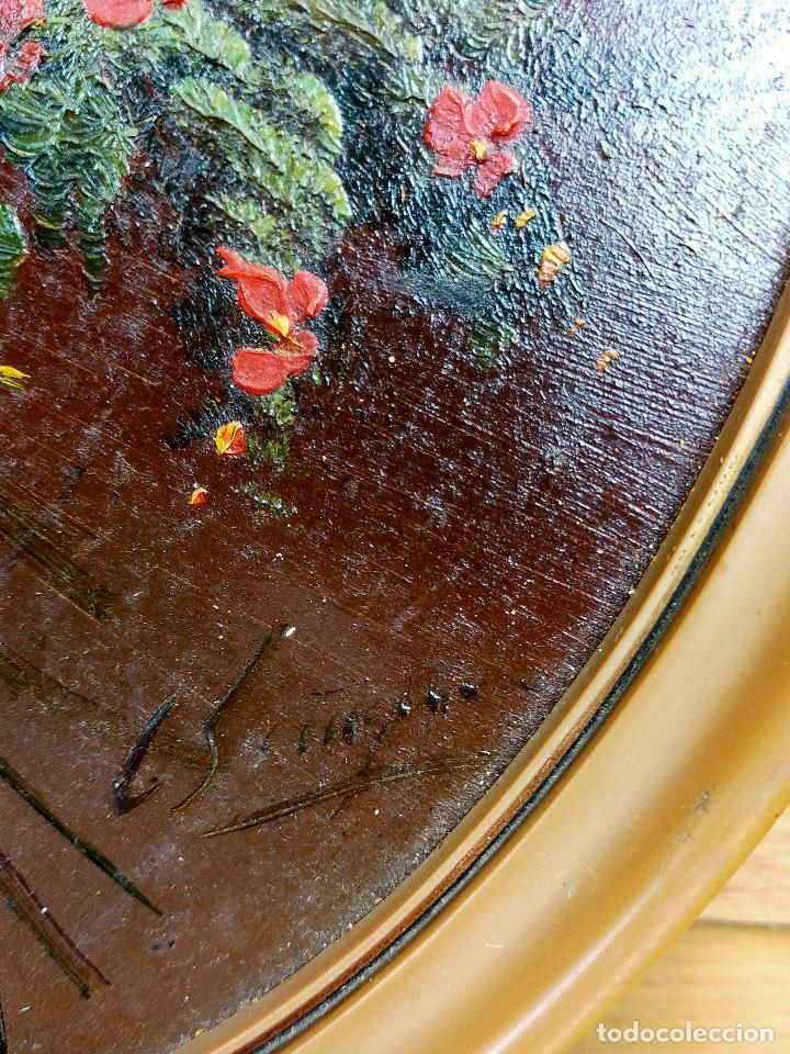 Arte: Bodegon de flores oleo firmado 42 x 34 - Foto 4 - 263642170