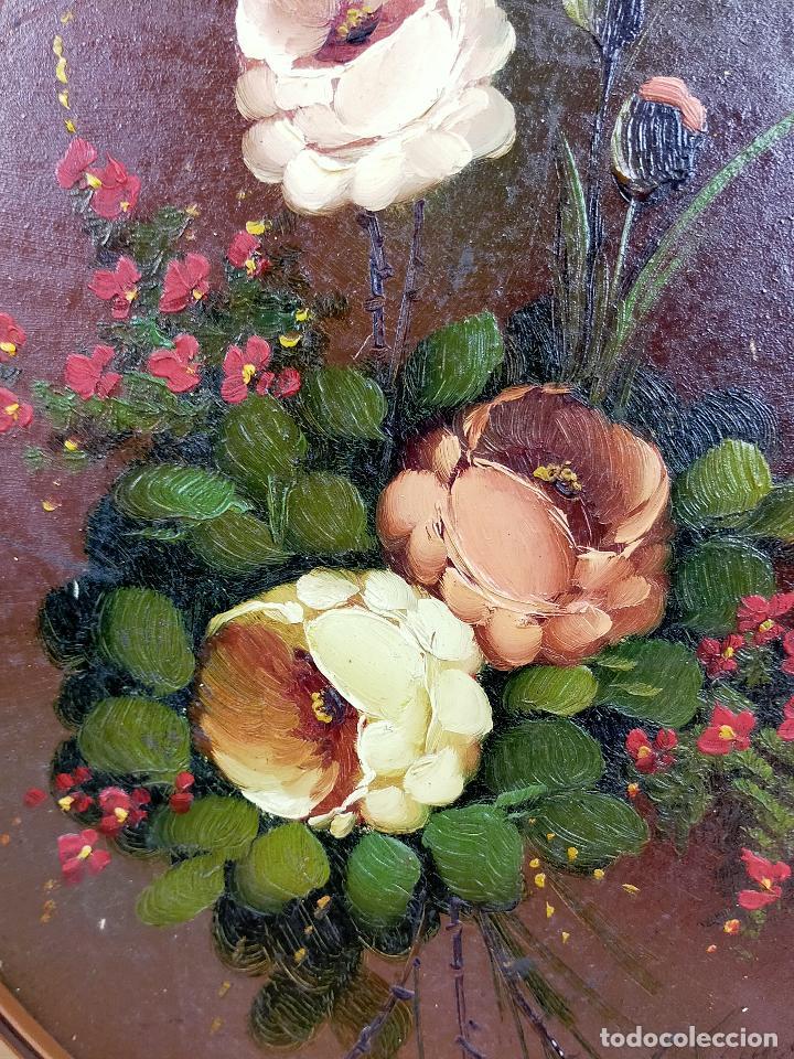 Arte: Bodegon de flores oleo firmado 42 x 34 - Foto 5 - 263642170