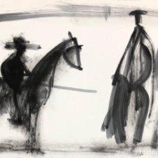 Arte: JAVIER MONTESOL - PINTURA ACRÍLICA SOBRE PAPEL -. Lote 263664220