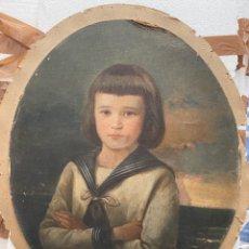 Arte: DIONISIO FIERROS (ASTURIAS). RETRATO DE NIÑO DE COMUNIÓN. 1887. Lote 264121120