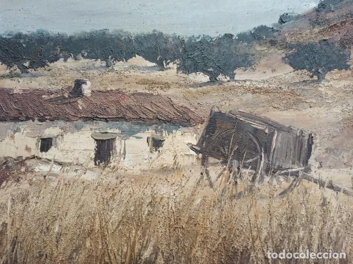 Arte: Escena rural. Óleo sobre lienzo firmado y fechado. PF - Foto 2 - 264177516