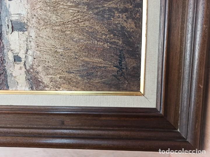 Arte: Escena rural. Óleo sobre lienzo firmado y fechado. PF - Foto 6 - 264177516
