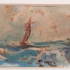 Arte: ERNESTO BAO GARRIDO(VIGO 1920-1988) OLEO SOBRE TABLEX. Lote 264268624