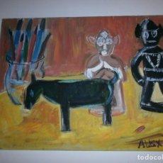 Arte: PINCELES Y FIGURAS AL OLEO. Lote 264432389