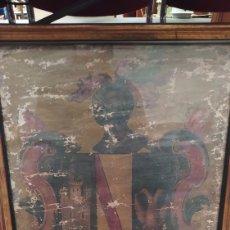 Arte: ESCUDO HERÁLDICO MUY ANTIGUO SIGLO XVIII. Lote 264525819