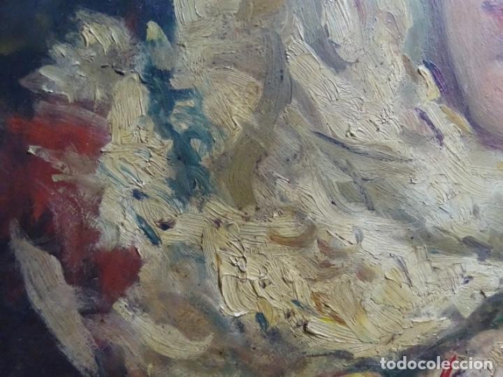 Arte: ÓLEO SOBRE PALETA DE ESCUELA VALENCIANA. J. MARTIN MARQUÉS. DEDICADO A MERCEDES MOLINA. - Foto 6 - 264695704