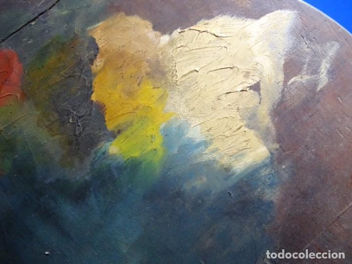 Arte: ÓLEO SOBRE PALETA DE ESCUELA VALENCIANA. J. MARTIN MARQUÉS. DEDICADO A MERCEDES MOLINA. - Foto 8 - 264695704