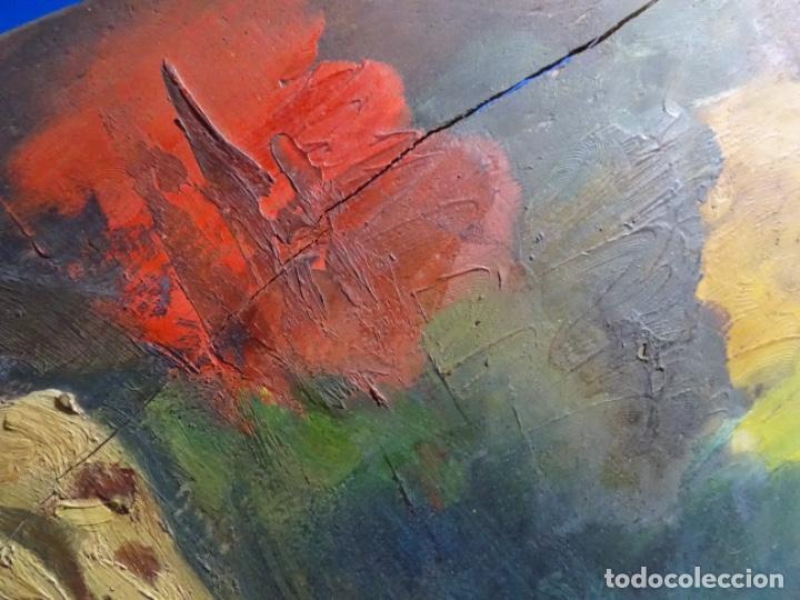 Arte: ÓLEO SOBRE PALETA DE ESCUELA VALENCIANA. J. MARTIN MARQUÉS. DEDICADO A MERCEDES MOLINA. - Foto 9 - 264695704