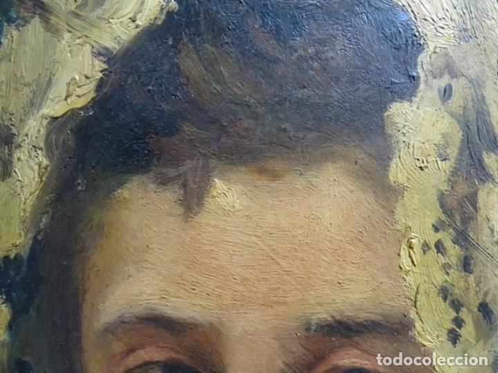 Arte: ÓLEO SOBRE PALETA DE ESCUELA VALENCIANA. J. MARTIN MARQUÉS. DEDICADO A MERCEDES MOLINA. - Foto 11 - 264695704