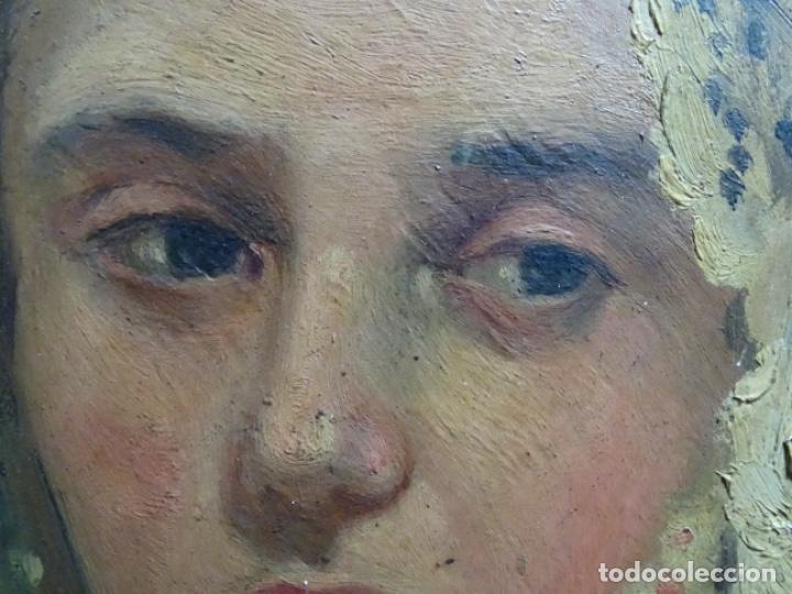 Arte: ÓLEO SOBRE PALETA DE ESCUELA VALENCIANA. J. MARTIN MARQUÉS. DEDICADO A MERCEDES MOLINA. - Foto 12 - 264695704