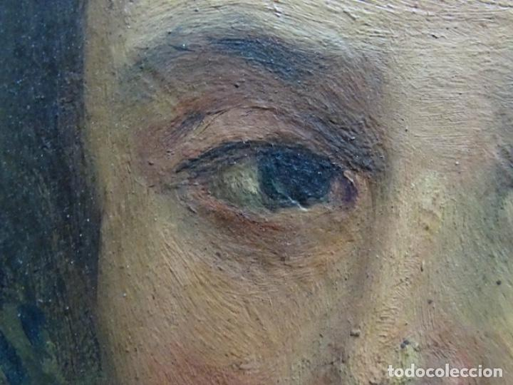 Arte: ÓLEO SOBRE PALETA DE ESCUELA VALENCIANA. J. MARTIN MARQUÉS. DEDICADO A MERCEDES MOLINA. - Foto 14 - 264695704