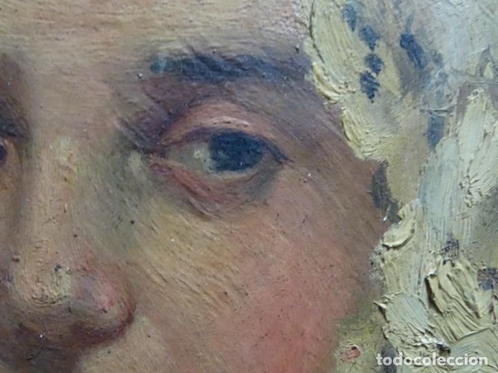 Arte: ÓLEO SOBRE PALETA DE ESCUELA VALENCIANA. J. MARTIN MARQUÉS. DEDICADO A MERCEDES MOLINA. - Foto 15 - 264695704