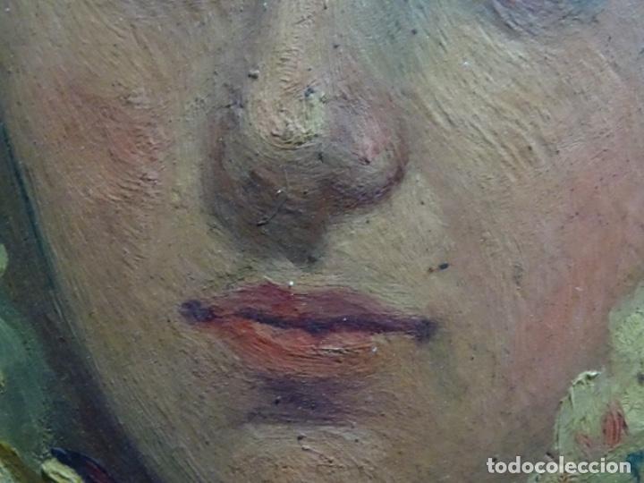 Arte: ÓLEO SOBRE PALETA DE ESCUELA VALENCIANA. J. MARTIN MARQUÉS. DEDICADO A MERCEDES MOLINA. - Foto 16 - 264695704