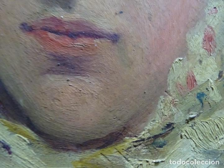 Arte: ÓLEO SOBRE PALETA DE ESCUELA VALENCIANA. J. MARTIN MARQUÉS. DEDICADO A MERCEDES MOLINA. - Foto 18 - 264695704