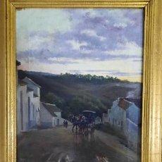 Art: MANIFICA PINTURA AL OLEO SOBRE LEINZO DEL COTIZADISIMO PINTOR MANUEL GARCIA Y RODRIGUEZ ,1867-1925. Lote 264710549