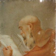Arte: OBRA RELIGIOSA PINTADA SOBRE CRISTAL,SIGLOXVIII. Lote 264711469