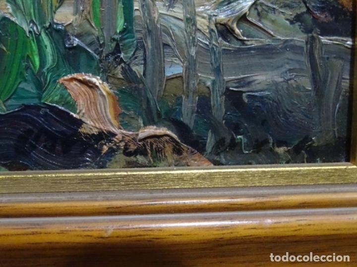 Arte: EXCELENTE ÓLEO EN TABLA DE FIRMA ILEGIBLE. - Foto 15 - 264854459