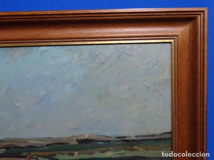 Arte: EXCELENTE ÓLEO EN TABLA DE FIRMA ILEGIBLE. - Foto 16 - 264854459