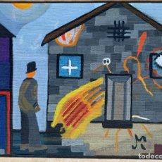 Arte: ANTONI MARTÍ (SEUDONIMO), CASSERRES, 1.960. ÓLEO SOBRE TELA 30 X 21. CERTIFICADO. Lote 265326754