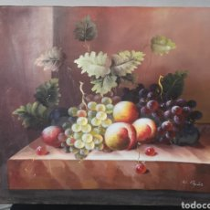 Art: DECORATIVO LIENZO BODEGON PINTURA. Lote 265413059