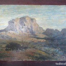 Arte: ATRIBUIDO A CARLOS DE HAES - PAISAJE CON MONTAÑA-. Lote 265429654