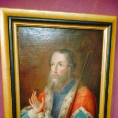 Arte: SANTO CON AVES EXÓTICAS ESCUELA MEXICANA SIGLO XVIII ÓLEO SOBRE LIENZO CM. 80X65. Lote 265541044