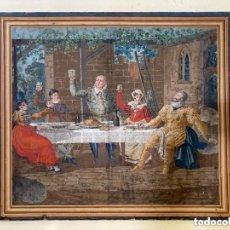 Art: PINTURA FF. S. XVIII O PP. S. XIX SOBRE GRAN CARTULINA ADHERIDA A LIENZO.. Lote 265649224