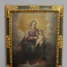 Arte: CUADRO DE LA VIRGEN CON EL NIÑO DE FINALES DEL SIGLO XVIII.. Lote 265659504