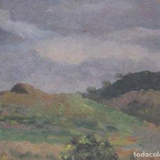 Arte: DOLORES (LOLITA) CALLOL CHEVALIER. PAISAJE. OLEO SOBRE CARTÓN. 15,5 X 20 CM. Lote 265678829