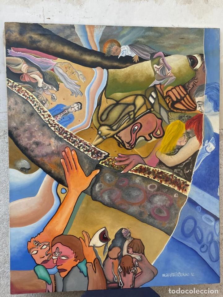 CUADRO OLEO GRAFFITI ARTE CALLE STREET ART CERO BAJO CERO Y SIRAI 1992 100X81CMS (Arte - Pintura - Pintura al Óleo Moderna sin fecha definida)